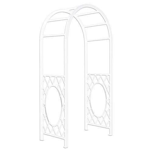 YICOL Heavy Duty Square Section Metal Garden Arch Arbour Climbing Rose Plant Support Pergola Archway,Iron, Black