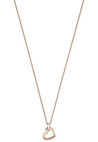 JETTE Damen-Kette 8 Zirkonia One Size Roségold 32010179