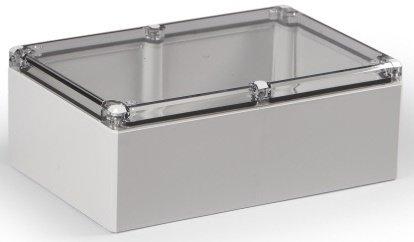 ABS Industriegehäuse Klemmkasten IP66 (LBH 160x240x91 mm, Deckel transparent)