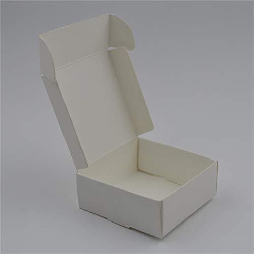 PPLAS Caja de cartón de jabón Blanco en Blanco, Caja de Papel de joyería marrón, pequeña Caja de artesanía de Papel Kraft Negro, Cajas de Embalaje de Regalo de Caramelo Regalo Papel