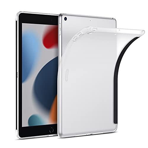ESR Matte Hülle für iPad 9. Generation 2021/8. Generation 2020, 7. Generation 2019, kompatibel mit Smart Keyboard & Smart Cover, dünne Rückencover Hülle, Matt Klar