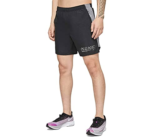 Nike Challenger 7In Pantaloncini Sportivi, Nero (Black/Reflective Silv), M Uomo