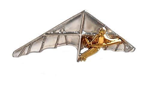 Unbekannt Drachenflieger Anstecker Revers Pin Bicolor teilvergoldet m.i. Germany + Geschenkbox
