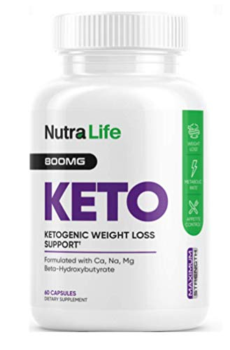 Nutra Life Keto - BHB and 800MG Proprietary Blend -60 Capsules - 1 Month Supply 1