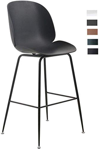 JZX Bar, cafetería, silla de restaurante, taburetes de bar, taburete de bar, sillas de cocina con patas de metal en negro para el mostrador del desayuno, oficina comercial, carga máxima de 440 lb,# 1
