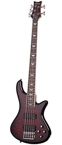 Schecter Stiletto Extreme-5 Bass Guitar, Black Cherry