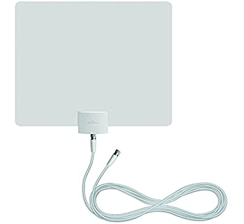 Mohu Leaf Plus Amplified Indoor TV Antenna 60-Mile Range UHF/VHF Multi-Directional Original Paper-Thin Design 16 ft Coaxial Cable 15dB Preamplified Reversible Paintable 4K-Ready MH-110029