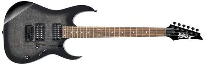 Ibanez GRG 6 String Solid-Body Electric Guitar, Right, Transparent Black Sunburst, Full (GRG120QHTKS)