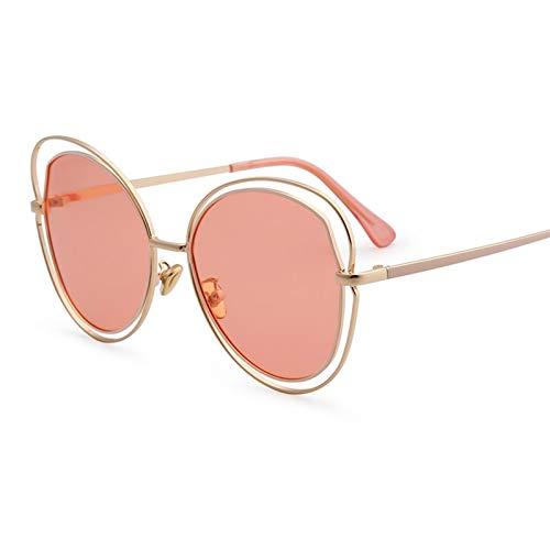 LDH Gafas De Sol Polarizadas Huecas Grandes, Gafas De Sol Retro, Gafas De Metal, Almohadillas De Nariz Ajustable De Alta Definición Gafas De Sol Al Aire Libre (Color : B)
