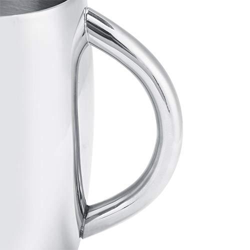 Superficie de Espejo Taza de café Multiusos Taza de café de Doble Pared para Camping, Picnic o Vacaciones 7.6oz ~ 10oz(550ML, Light Body)