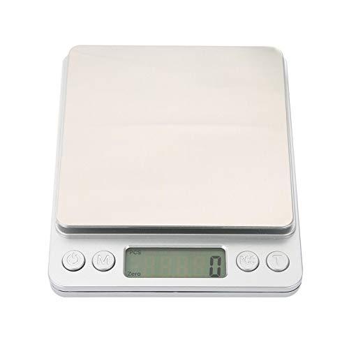 Küchenwaagen Exquisite Backmessung Elektronische Waagen Edelstahl Neuartige hochwertige Küchenwaagen Haushalt für die Küche(3KG/0.1g)