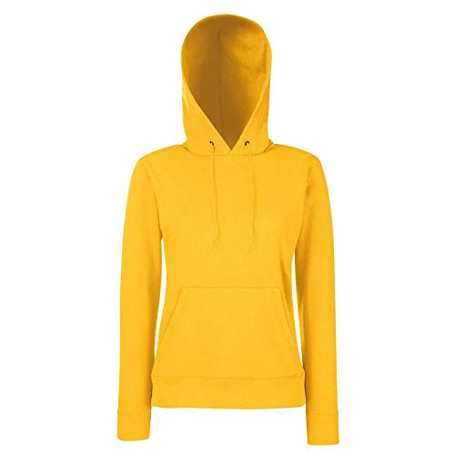 Fruit of the Loom - Classic Lady-Fit Kapuzenpullover 'Hooded Sweat' M,Sunflower