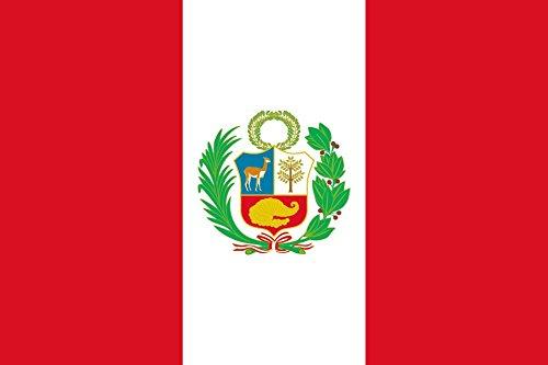 AR TACTICAL WM 2018 Länder Flaggen Hissfahne mit Messingösen 90x150 cm alle Länder wählbar (Peru)