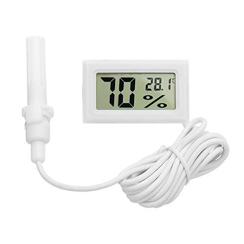 KASILU Yhj0313 Digital Miniskirt LCD Termómetro Digital Digital Hygrómetro Frigorífico Congelador Temperatura Humedad Medidor Huevo Blanco Incubadora Buenos componentes