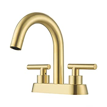 Best brushed brass bathroom faucet Reviews