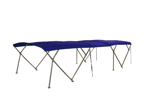 Check Out This NorthStar Pontoon Boat Double Bimini Top 18' Sunbrella Med. Blue Tweed