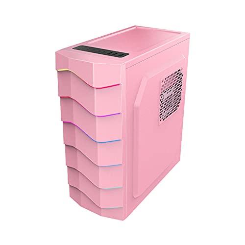 KDR Caja Gaming ATX,Cristal Templado Caja, Compatible con Transmisión De Alta Velocidad ATX, M-ATX, Mini-ITX, USB3.0