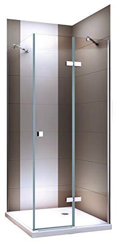 Hoek douchescherm van transparant glas - NANO - 80 x 80 x 190 cm