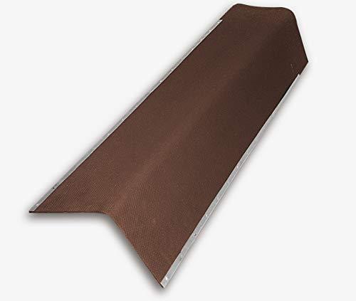 Giebelwinkel für Bitumenwellplatten - braun mit Metallkante 850 mm