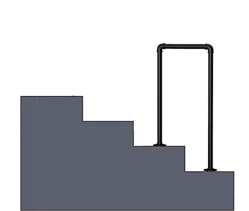 GJIF Handlauf Arch # 2 Fits 1 oder 2 Stufen Schwarz Treppengeländer Schmiedeeisen Geländer, Geeignet for Erwachsene, Kinder, Dachboden Geländer Outdoor/Indoor Schritte