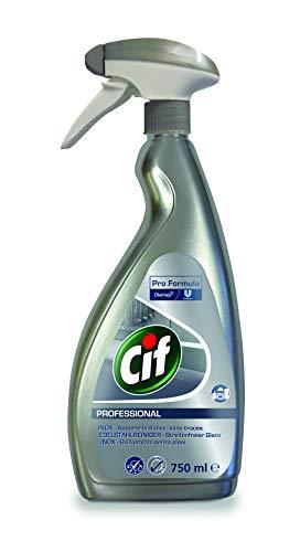 Cif Profesional de acero inoxidable y cristal cocina 7518294con contador limpiador fragancia libre para lebensmittelverarbeitende zonas, 0,75litros