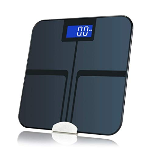 Báscula, Smart Scale Bluetooth báscula de baño - Alta Precisión de las mediciones de la composición corporal, índice de masa corporal, metabolismo basal, la grasa corporal, el músculo esquelético, la