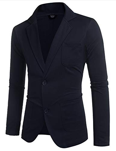 COOFANDY Mens Blazers Casual Sport Coats Slim Fit One Button Jacket Sport Jackets (Dark Grey S)