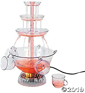 Plastic Light-Up Drink Fountain with Cups 12