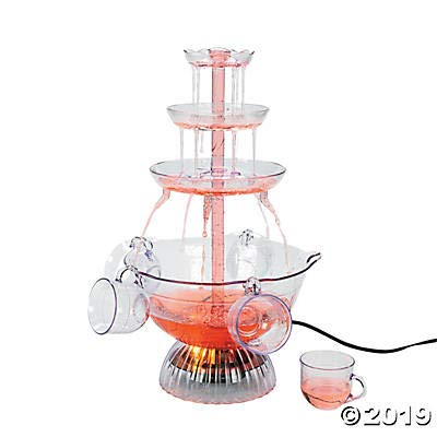 Plastic Light-Up Drink Fountain with Cups 12' x 23 1/2'