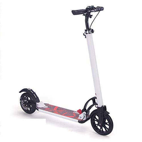 Purchase NAN Aluminum Alloy Lightweight Adult Scooter, Black Collapsible City Scooter Disc Brakes wi...