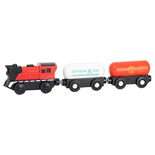 Doans Tren de Madera con Potente Juego de Juguete Bullet Engine conexión magnética Se Adapta a Trenes y vías de Madera niños y niñas de 345 años efficient