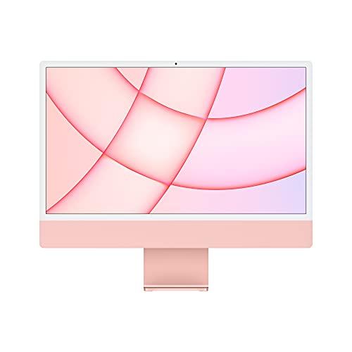 2021 Apple iMac (de24Pulgadas, Chip M1 de Apple con CPU de Ochonúcleos yGPU deOchonúcleos, Cuatro Puertos, 8GB RAM, 256 GB) - Rosa