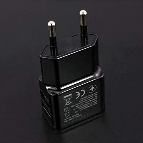 KinshopS Adaptador de Corriente USB Dual portátil Cargador de teléfono móvil Enchufe...