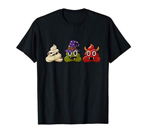 Disfraz de Halloween divertido Emoji de caca de Halloween Camiseta
