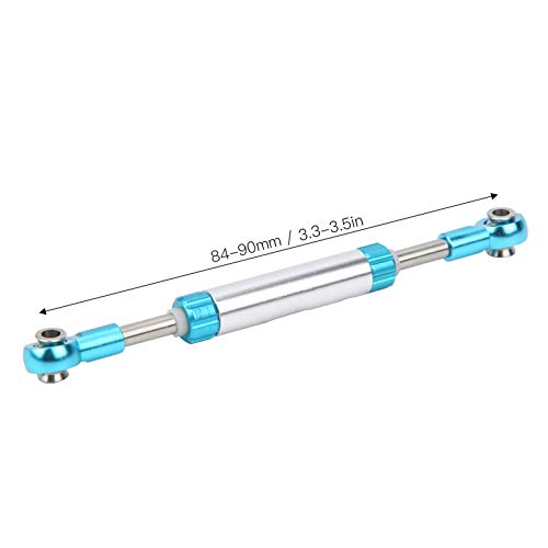 Alomejor RC Car Servo Link Rod Aluminiumlegierung 1/10 RC Car Verbesserte Teile für 1/10 RC Crawler Axial SCX10(84-90 mm)