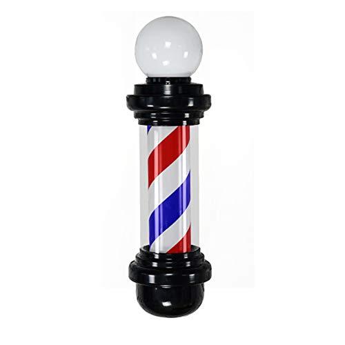 SXYQR Poteau de Barbier avec Haut Lampe Imperméable Pivotante Blanc Noir Rayures LED Lumineuse Cheveux Salon Coiffure Signe Mural Lumière