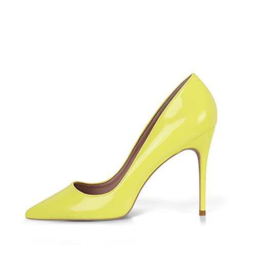 High Heel, 10cm / 3,94 Zoll Stiletto High Heel Schuhe für Frauen Spitz Party Abendkleid Pumps Prom,39 EU(9 US)