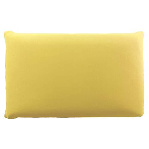 Edda Lux Funda para cojín de 72 x 42 cm y para almohada MaxxGoods de 70 x 42 cm, en muchos colores, 100% algodón, con cremallera, color: limón