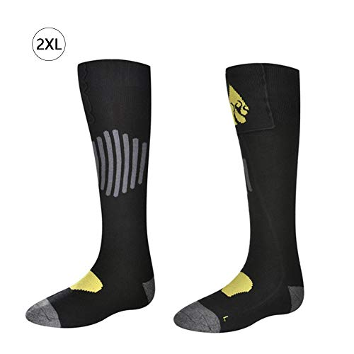 gaeruite gaeruite Battery Heated Socks, Adult Cotton Electric Warm Thermal Socks für Fußwärmerzehen unterstützen den Heizbereich