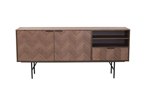 Amazon Marke - Rivet Sideboard, 180 x 40 x 80 cm, Nussbaum