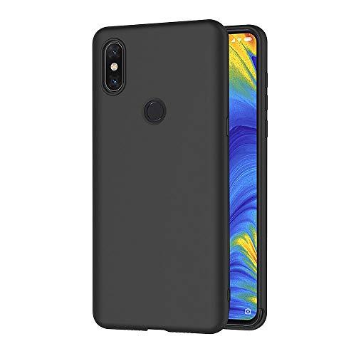 AICEK Funda Xiaomi Mi Mix 3, Negro Silicona Fundas para Xiaomi Mix 3 Carcasa Xiaomi Mi Mix 3 Negro Silicona Funda Case (6,39 Pulgadas)