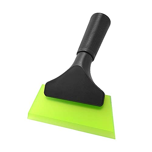 FOSHIO Small Squeegee with 5 Inch Rubber Blade Mini Wiper Window Tinting Tools for Mirror Glass Window Cleaner with Non-Slip Handle
