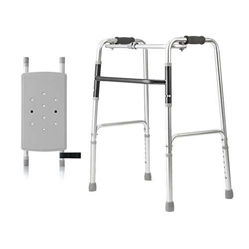 LYP Andador Rollator Walker Ancianos discapacitados formación asistida extremidad Inferior Andador Andador aleación de Aluminio Ligero y fácil de Llevar (Color : Silver, Size : #3)