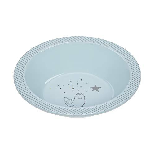 LÄSSIG Kinder Schüssel Melamin rutschfest/Bowl More Magic Seal, blau