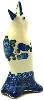 Polish Pottery Pie Bird - Blue Poppy
