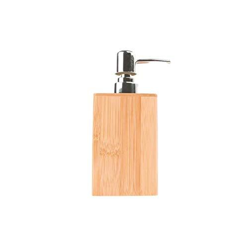 Dosificador Jabón Dispensador de lotión de dispensador de jabón de madera - Accesorios de baño, jabón de mano Dispensador de ducha Botella de bomba de botella Recipiente recargable Botellas dispensado