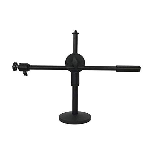 XYSQWZ Cantilever Mobile Phone Holder, Student E-learning Video Mobile Phone Stand - Photography Full 360 ° Rotation Shooting (Color : Black)