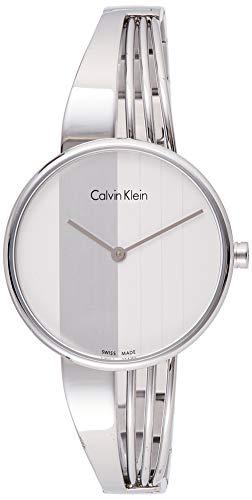 Calvin Klein Damen Analog Quarz Uhr mit Edelstahl Armband K6S2N116
