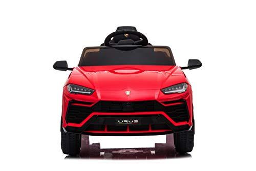 TOYSCAR electronic way to drive Auto Macchina Elettrica per Bambini 12V Urus Rossa con Telecomando Porte apribili LED e Suoni Mp3