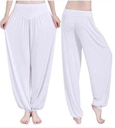 Donne pantaloni di yoga più i pantaloni Dimensione Sport Leggings Yoga colorato Bloomers di ballo di yoga TaiChi pantaloni modali Pantaloni (Color : White, Size : Medium)